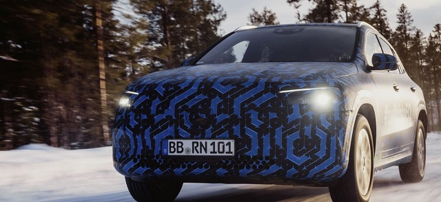 2022 Mercedes Benz EQA spy shot