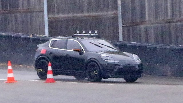2022 Porsche Macan EV Spy shot